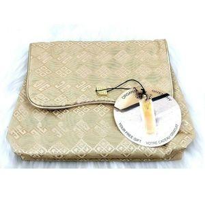 NEW Vtg Organza Givenchy Logo Travel Cosmetics Bag